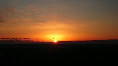 愛宕山(茨城県笠間市)の初日の出