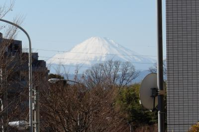 境木地蔵からJR東戸塚駅間で見える富士山