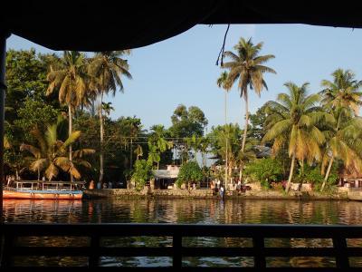 インド一周 アレッピーでハウスボート