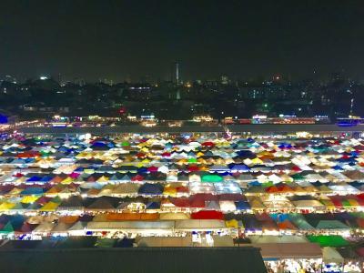 #5 女子2人バンコク旅 3.4日目 ラチャダー鉄道市場&ルーフトップバー
