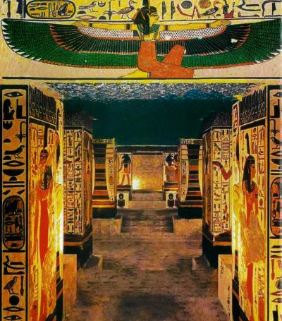 Wonder one dollar! HISエジプト8日間の旅(11)早朝のルクソール西岸に浮かぶ気球を眺め、王妃の谷のネフェルタリ王妃の墓に感動する。