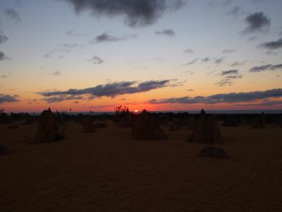 夕日のピナクルズ