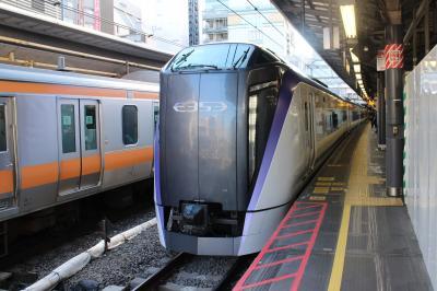 新宿から松本経由長野まで。E353に乗り、松本ではミニ街歩き、ラストは高速バス。