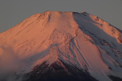 05.年越しのエクシブ山中湖3泊 山中湖畔からの紅富士 パノラマ台からの朝の富士山
