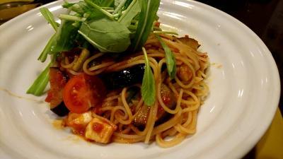 自由が丘で昼食「京野菜スパゲティー」で食べてきました。