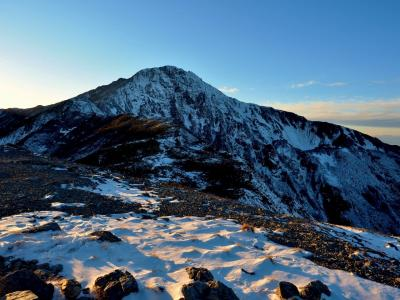 積雪期北岳下見 / ボーコン沢の頭で撤退