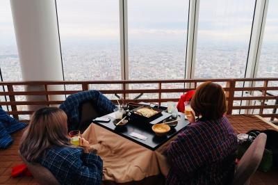 2019年1月 姪っ子と行く大阪☆「ハルカス300」でこたつdeごはん~「インターコンチネンタル大阪」ホテルステイ♪~