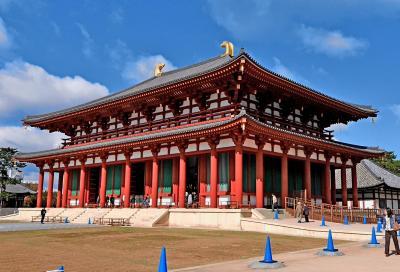 フィンランド人と一緒に京都,奈良旅行4-興福寺中金堂,葉風泰夢で昼食,東大寺大仏殿