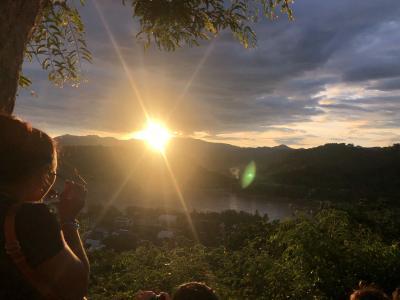 2018 JUN 古の仏都ルアンプラバン ぶらり一人旅 (3日目PM/4日間)郊外の寺院巡りと古都の夕陽