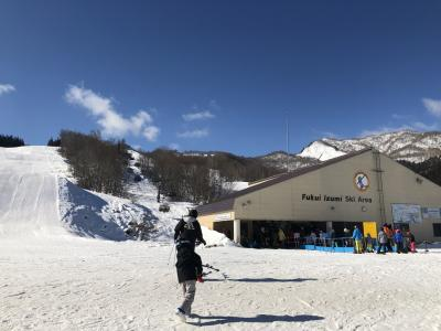 福井和泉でスノーボード !