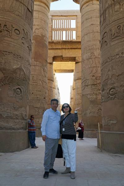 Wonder one dollar! HISエジプト8日間の旅(14) ルクソール西岸でランチの後はファルーカでナイル川を漂流し、カルナック神殿の巨大列柱室に迷う。
