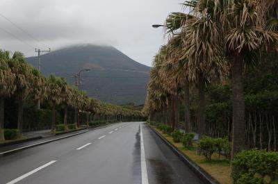 雨降って八丈島 1-2 ホテルに向かいながら島散策