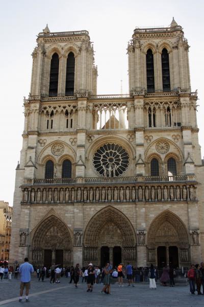 パリの街歩き2018(第1回)1日目午前 ノートルダム寺院 Town walk in Paris/Cathedrale Notre Dame