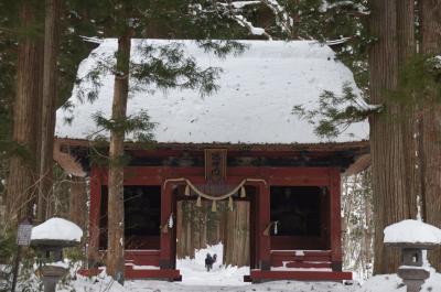 雪の戸隠奥社