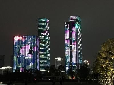 中国深セン:深セン湾万象城・人材公園とライトアップ