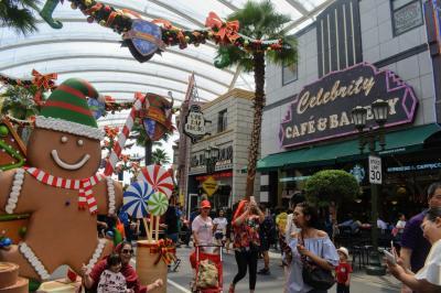 クリスマスが過ぎても、クリスマス雰囲気を味わえるユニバーサルスタジオシンガポール!
