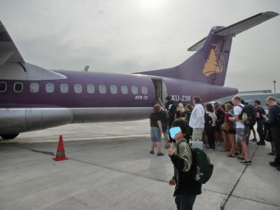 初カンボジア16か国目シアヌークビルからロン島②アンコール航空でシアヌークビルへ