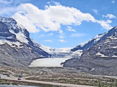 カナダ ジャスパー国立公園 アサバスカ氷河