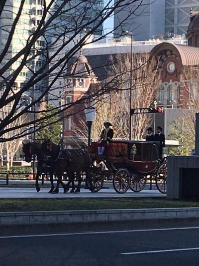 天皇陛下への大使着任挨拶、東京駅から皇居までの宮内庁馬車行列に遭遇