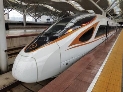 ★出張で中国新幹線「復興号」CR400BFに乗車(長沙南ー武漢)