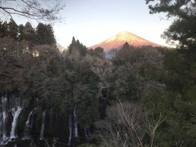 東京帰りの風穴、赤間神社、静岡白糸の滝、赤富士
