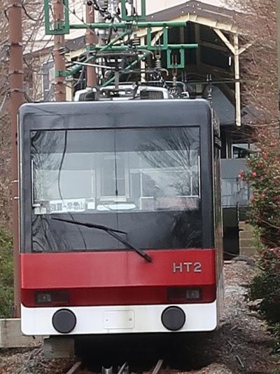 箱根18 ホテル→上強羅⇒強羅 登山ケーブルカーで下り ☆観光施設めぐりバスに乗り換え