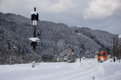 2019冬のみちのくめぐる旅4日間vol.2(秋田内陸縦貫鉄道の雪景色)