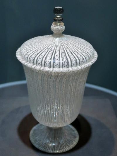 箱根20 ガラスの森b ヴェネチアン・グラス美術館で ☆繊細優美な細工・技巧の発展をみる