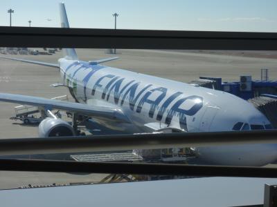 エアバスA330-300に乗りましたFinnair AY-80便。ヘルシンキへの便です。