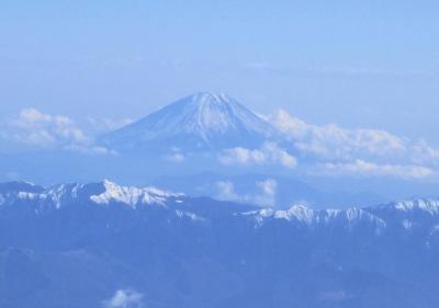 Finnair NGO-HEL AY-80。富士山がよく見えました。
