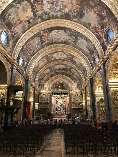 マルタ島再訪 3日目 騎士団長の宮殿 聖ヨハネ大聖堂 アッパー・バラッカ・ガーデン
