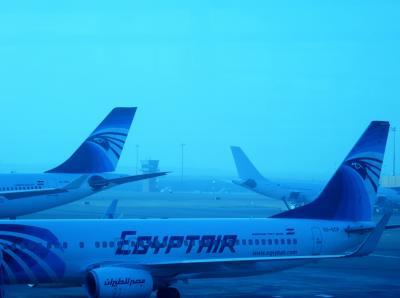 やっと会えたホルス様!エジプト航空のビジネス2発乗ってきた♪(2路線目のカイロ-ドバイ編)