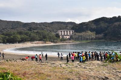 休暇村南伊豆と弓ヶ浜の景観 ~白砂の弓なりビーチと路地裏めぐり~(南伊豆)