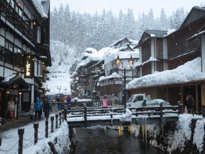 銀山温泉「銀山荘」に泊まる美しき白銀の東北3日間のツアー旅に行きました。