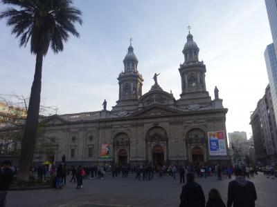 (42)2019年8月南米5か国(7)チリ(サンチアゴ(アルマス広場 大聖堂 モネダ宮殿 中央市場 サンタ・ルシアの丘 )
