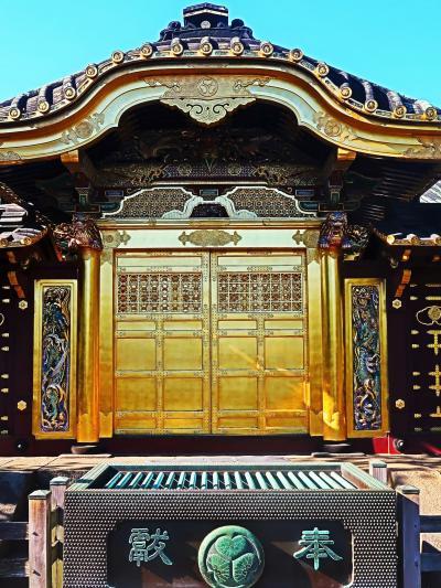 上野-3 東照宮 大石鳥居=(表参道)=唐門 参詣路を往復 ☆五重塔・銅灯籠を見ながら
