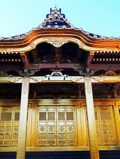 上野-5 東照宮 社殿《金色殿》 拝観 ☆豪華な彫刻-輝き復活!平成の大修理終えて