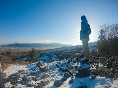 空から眺める姨捨! 日本三大車窓の冬景色