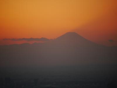 スカイツリーからの夕焼け☆鉄板焼 摩天楼☆2019/01/23