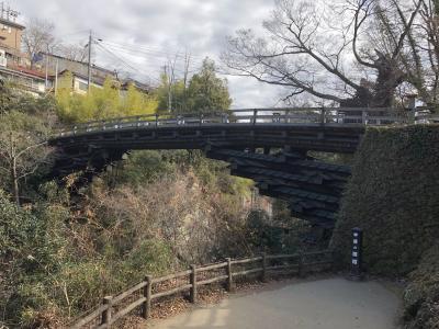 日本三奇橋の一つ「猿橋」を渡りました