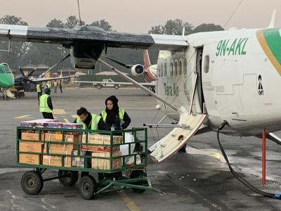 2018年12月31日(月) ネパール・カトマンズからルクラへ 40分間のフライト