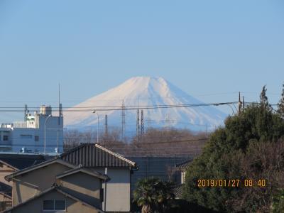 素晴らしかった1月27日の富士山