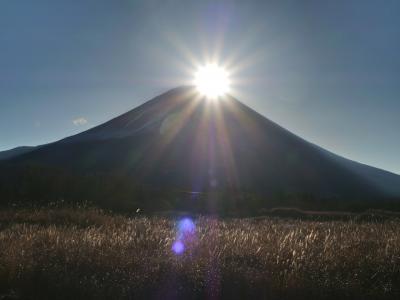 朝霧高原のダイアモンド富士