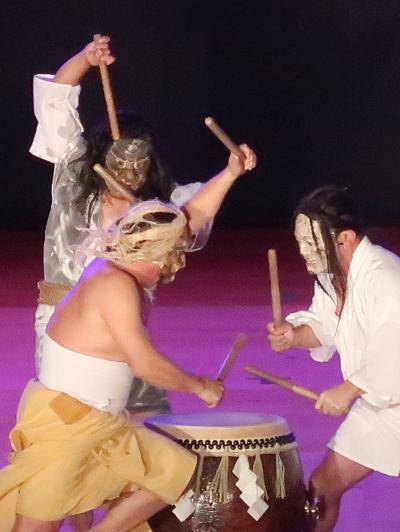 ふるさと祭り東京-2  (輪島)御陣乗太鼓b 伝統芸能を受け継ぎ ☆軍勢を追い返した音響で