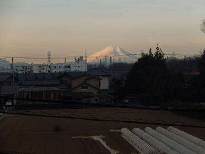 素晴らしかった1月28日の富士山