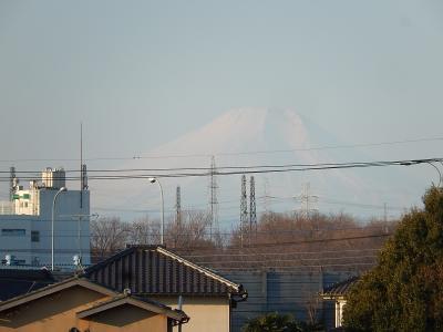 1月29日に見られた富士山