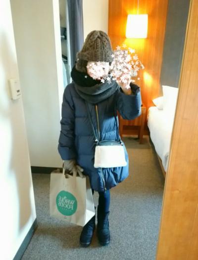 1月のニューヨークでの服装。