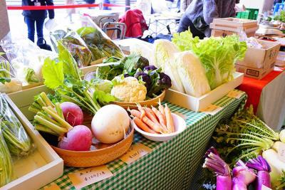 名古屋のナナちゃんストリートでオーガニック野菜