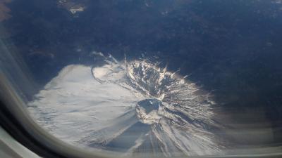松山便からの富士山