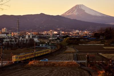 白銀に染まる富士山の風景を探しに伊豆箱根鉄道駿豆線に訪れてみた